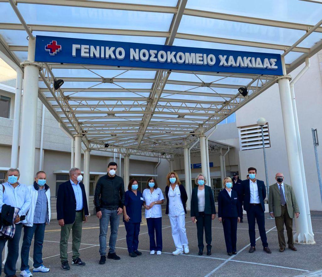 """Επίσκεψη Κικίλια στο νοσοκομείο Χαλκίδας - """"Τεράστια κρίση της Δημόσιας  Υγείας"""""""